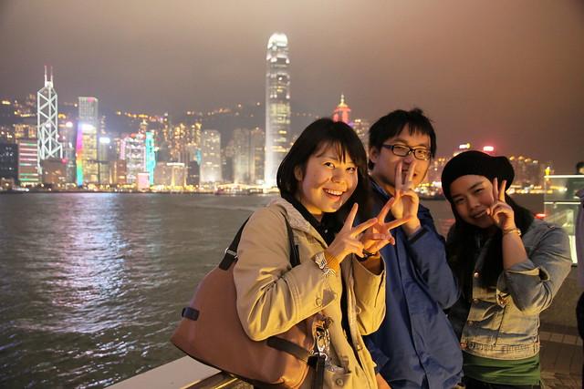 香港維港夜景 with Frances & Haruna