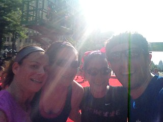 Alysen, Elyse, Michelle and I at the finish