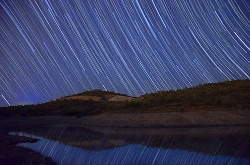 camping arizona lake motion reflection nature landscape concentration nikon startrails lakepleasant apphotography d5100 starstax