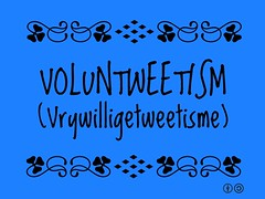 Buzzword Bingo: Voluntweetism (Vrywilligetweetisme) = Getting people together to share on the social web a specific topic or place @ThisTourismWeek #MBTravFest
