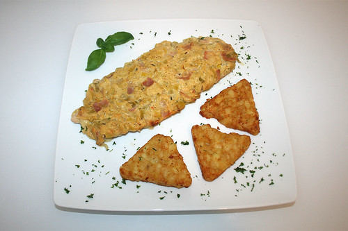 36- Lauch-Fischkäse-Schnitzel - Serviert / Leek cream cheese schnitzel - served