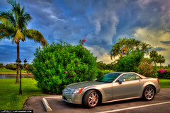 Cadillac-XLR-Sportscar-with-Incoming-Storm