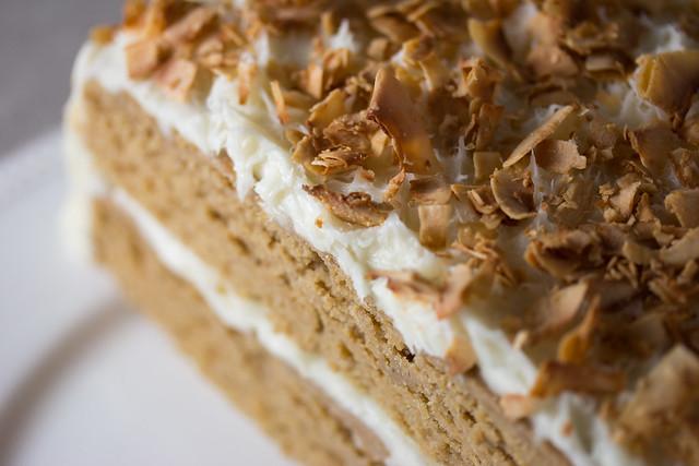 Vegan Toasted Coconut Cake