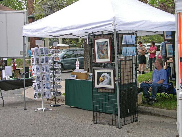 Judson Street Fest 2013 nature art booth