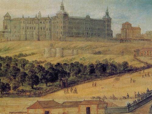 Antiguo Alcazar Real de Madrid, en el siglo XVII. Autor desconocido