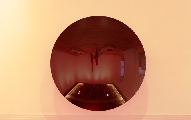 Blood Mirror IV, 2013, Aluminium and paint