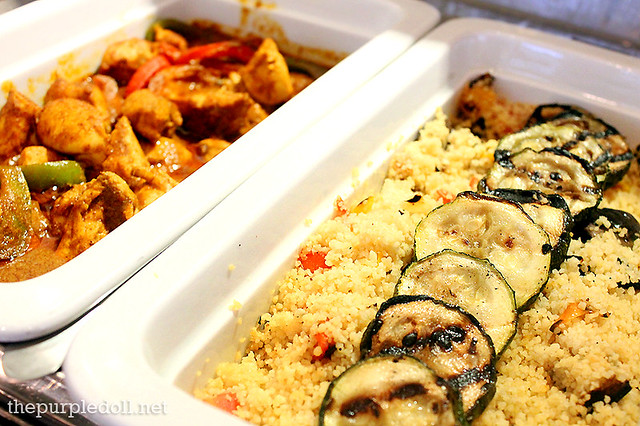 Entrees - Chicken Curry and Mixed Vegetable Couscous