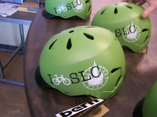 I bicycle Salt Lake City free bicycle helmets for the GREENbike bicycle sharing program