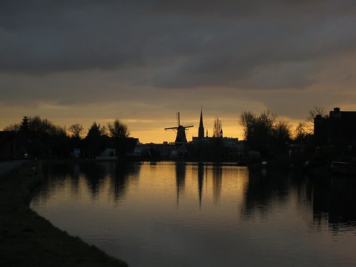 sunset canon thenetherlands leidschendam s100 hndrk dutchsilhouette windmillandchurch