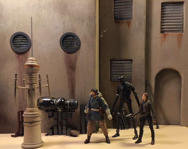The street of Jedha from Rogue One. Custom 1/12 scale diorama