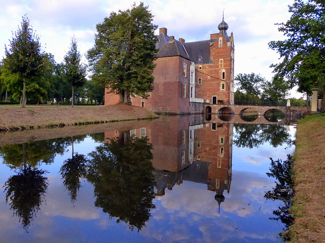 Cannenburgh Castle with cloud reflections