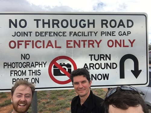 Scott Ludlam visits Pine Gap