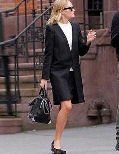 Kate Bosworth Monochrome Trend Celebrity Style Women's Fashion