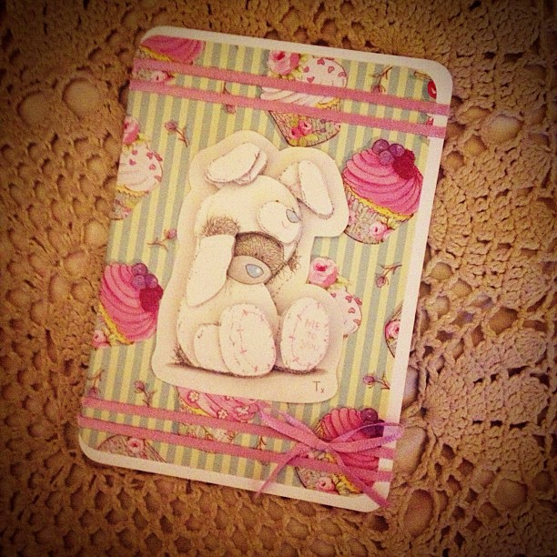 I've no idea why I buy #decoupage sets its so limited what you can do with them but this is a rushed #card for my niece. #birthday #metoyou #tattyteddy #bear #cupcake