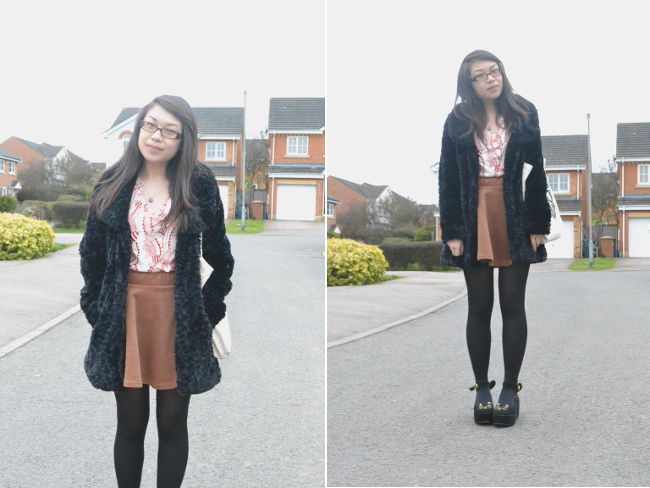 daisybutter - UK Style and Fashion Blog: what i wore, celia birtwell for uniqlo, kitty wedges, casual chic, weekend outfits, ways to wear skater skirts, SS13