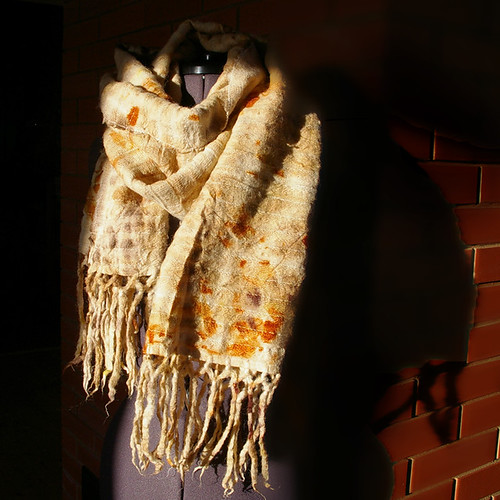 Naturally dyed scarf by Jane Bo