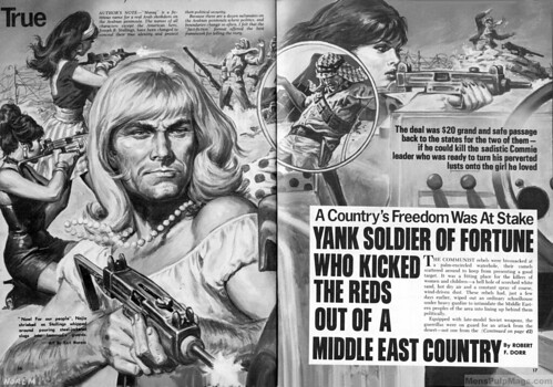 FOR MEN ONLY, Nov. 1971. Earl Norem art for a Robert F. Dorr story