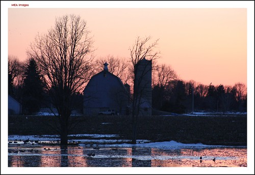trees winter sunset sun snow reflection nature water wisconsin barn canon shadows silhouettes farmland silo canoneos60d picmonkey