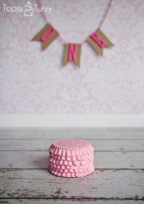 large-pink-ruffled-buttercream-smash-cake-banner