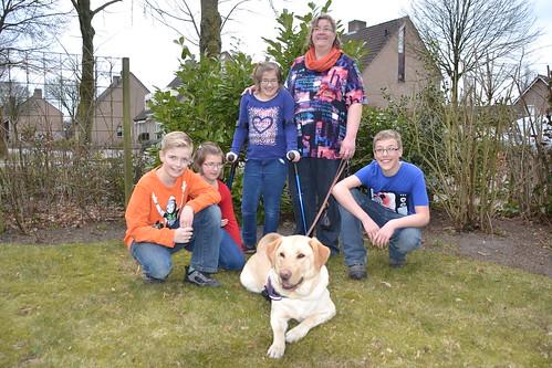 Familie Bekkers met buddyhond Nando