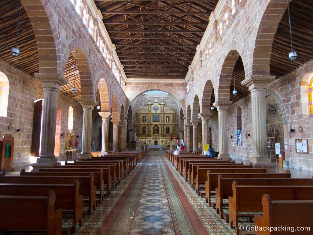 Inside the Church of the Inmaculada Concepción