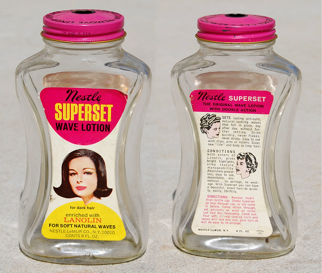 Nestle Superset Wave Lotion, 1960's