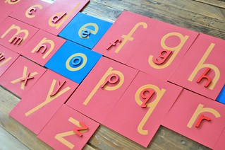 Matching Sandpaper Letters Moveable Alphabet
