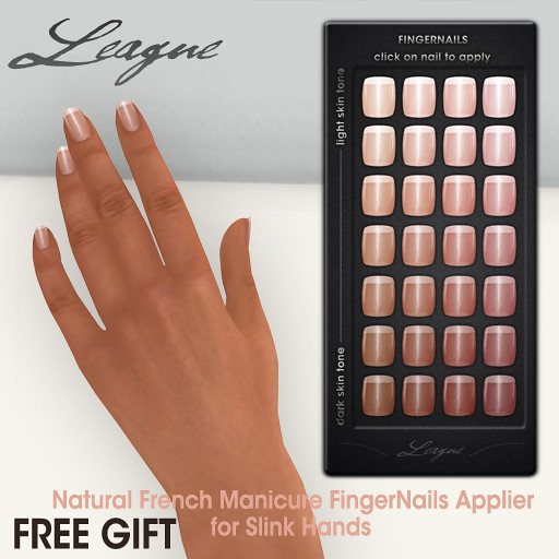 League Natural French Manicure Fingernails Applier