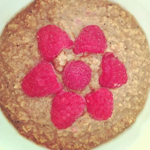 PB & Raspberry TVP Oatmeal
