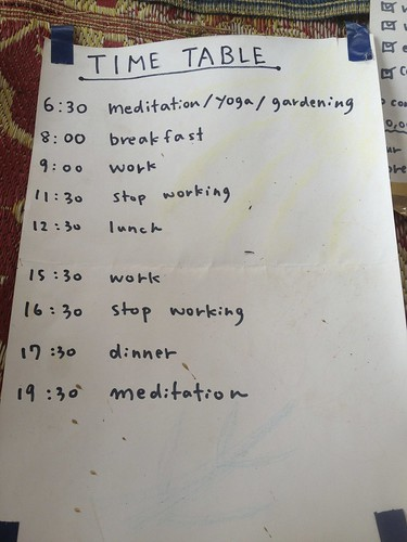 "the ""schedule"" at Mindful Farm"