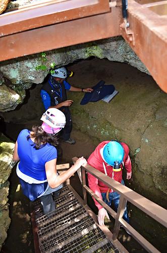 Entering, Cueva del Viento, Tenerife