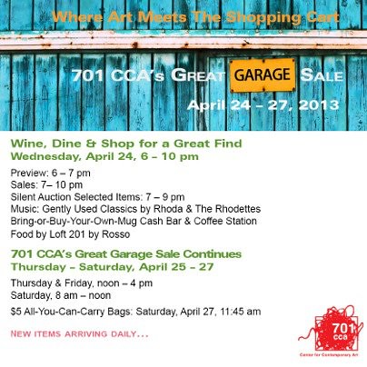 701 CCA's Great Garage Sale!