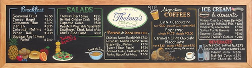 Thelma's Deli Chalkboard Menu