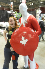 Carolynne and Captain Canada!