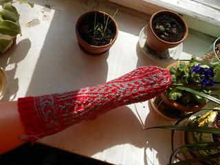 Woodruff sock готов первый носок вид сверху