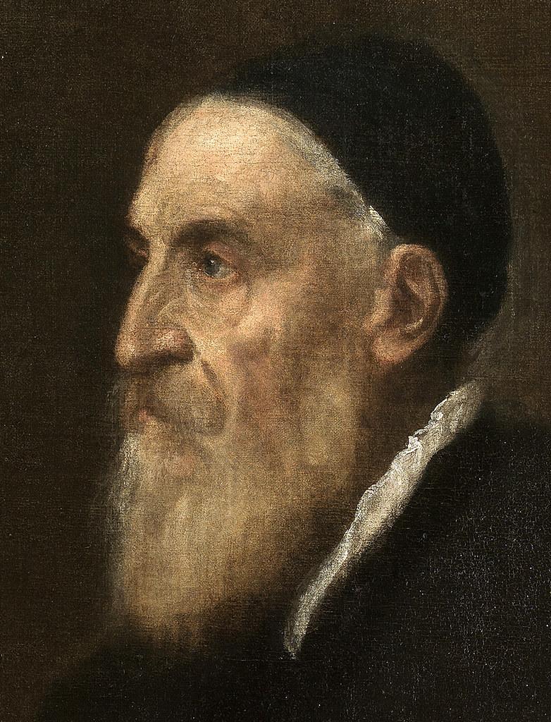 Autorretrato de Tiziano (Detalle). Óleo sobre lienzo. Entre 1565-70