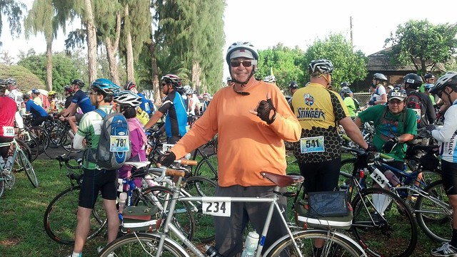 Start of Haleiwa Metric Century Ride 2013