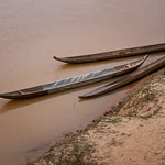 Canoes on the Dakbla River - Kon K