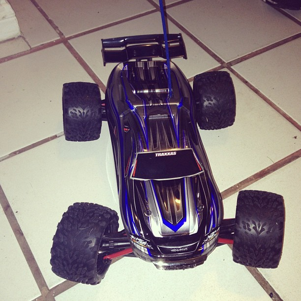 New kid on the block. #watchout #erevo #revo #badmamajama #rc #grownup #toys #vroom