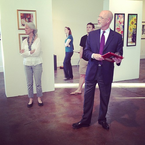 Ken May, ed of @SCartscom, at the preview for tomorrow's sale.