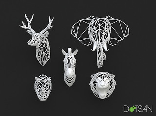 3D Printed Animal Heads