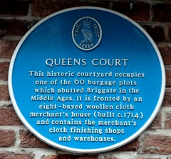 Photo of Queens Court, Leeds blue plaque