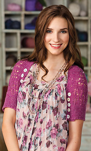 Buttoned Up in Lace Shrug