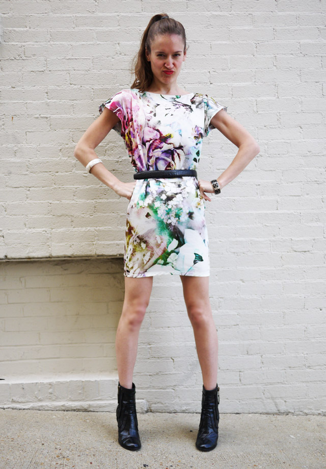 6 floral graphic dress spring my fair vanity rachel mlinarchik