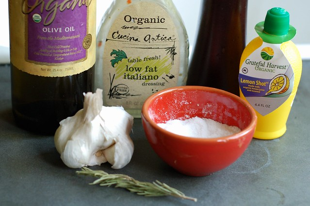 Marinade ingredients by Eve Fox, the Garden of Eating blog, copyright 2013