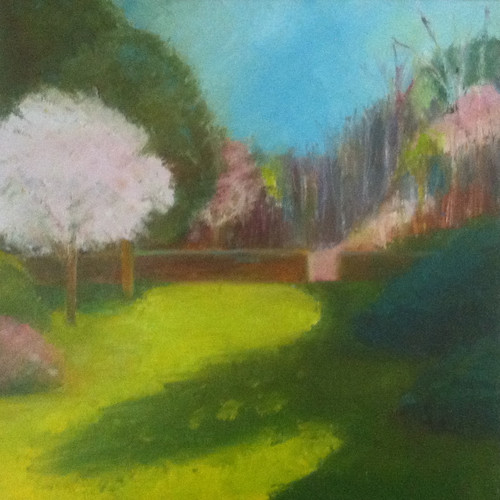 First of May at Long Hill (Oil Bar Painting as of May 22, 2013) by randubnick