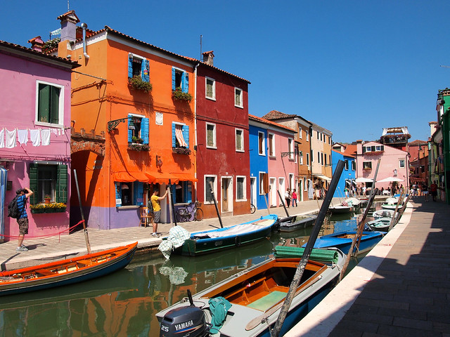 Colorful Burano homes