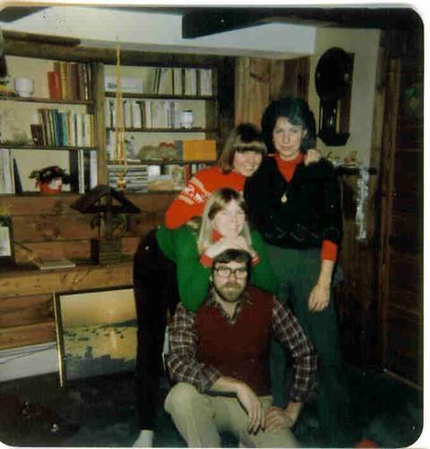 Chuck, Sarah, Bex, and Toni at Chuck & Toni's house