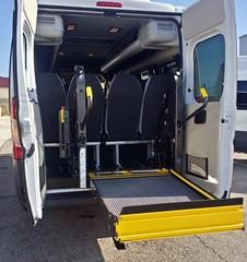 Hasta 5 sillas de ruedas