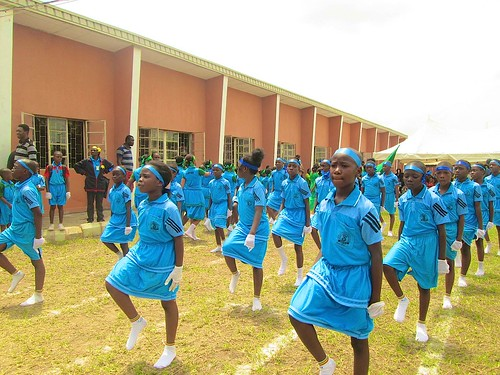 The Students parade at the St Louis Nursery and Primary School, Akure, 16th biennial Interhouse Sports Competition